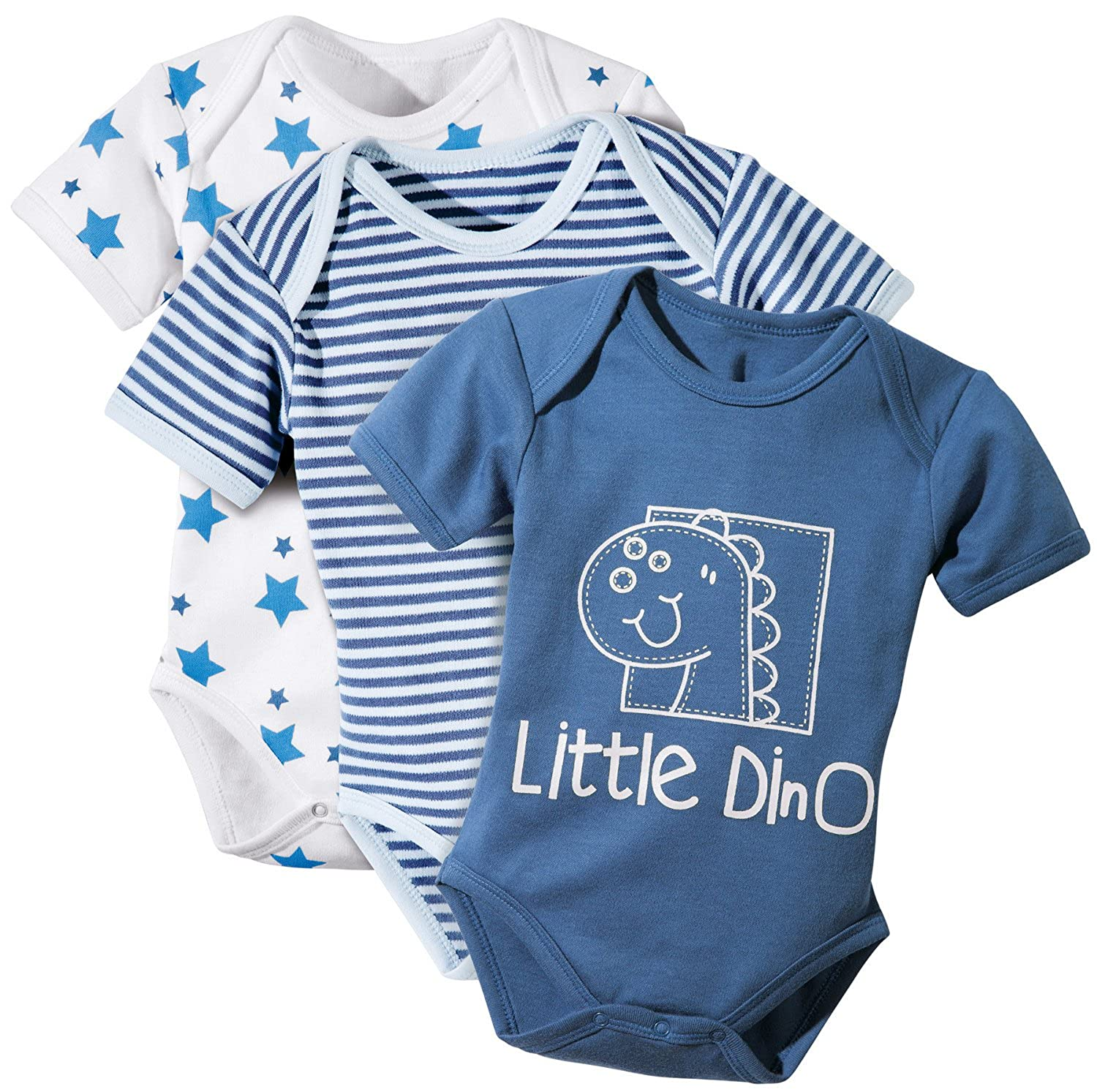 Baby Butt Body 3er-Pack mit Druckmotiv Interlock-Jersey