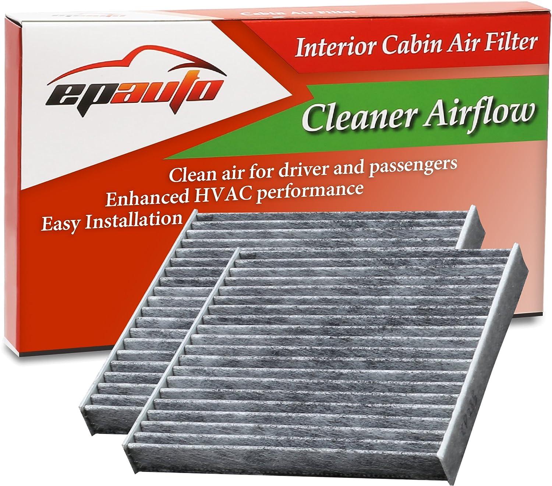 2 Pack - EPAuto CP285 (CF10285) Replacement for Toyota/Lexus/Scion/Subaru Replacement Premium Cabin Air Filter includes Activated Carbon FC-010-3
