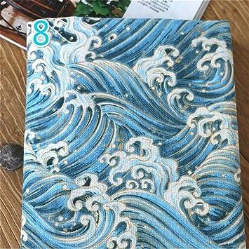 Japonés Algodón Lino Tejido para Cojín DIY Bolsa, 100 x 145 cm (#8 ...