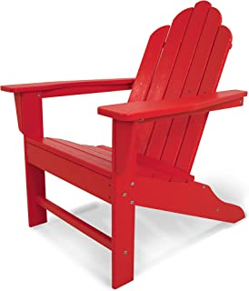 """product image for POLYWOOD ECA15SR Long Island Adirondack Chair, Height: 38.50"""" - Width: 31.25"""" - Depth: 33.75"""", Sunset Red"""