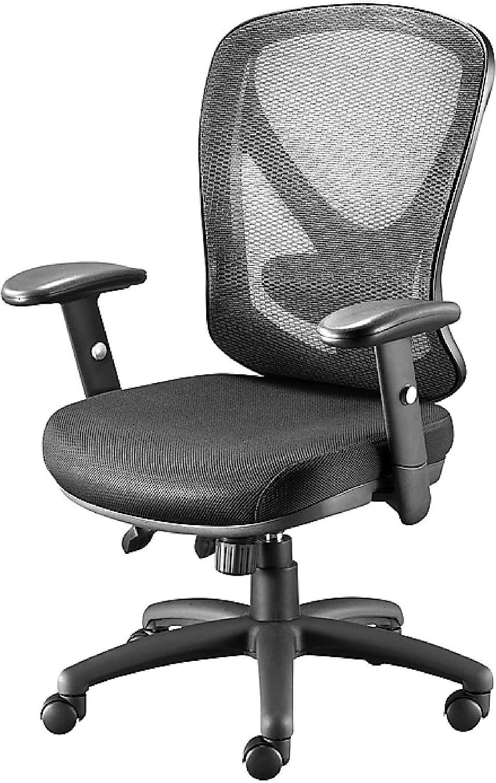 STAPLES Carder silla de oficina de malla (negro, se vende como 39 cada uno)  – Silla de oficina ajustable con material de malla transpirable,