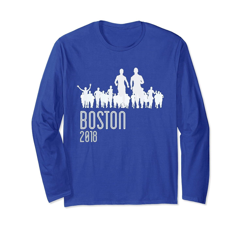 2018 Boston Running Long Sleeve Shirt-ah my shirt one gift