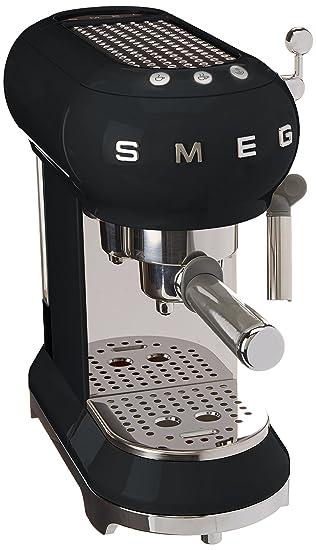 SMEG 146873 Máquina de café expreso ECF01BLEU, negro