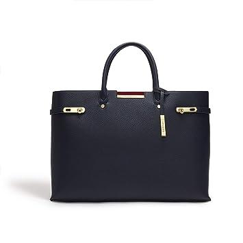 3c691793a4 LaBante - Sac Cabas Besace Femme - Windsor - Sac Bleu Marron Grand Sac a  Main