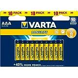 Varta - Piles Alcalines Longlife AAA (LR03)–Lot de 10