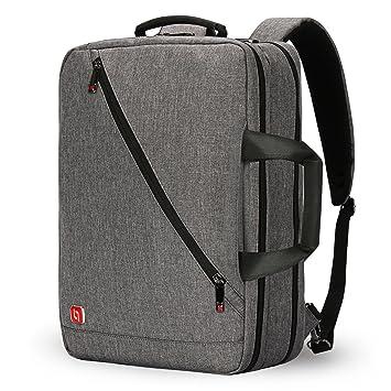 Nuevo 3-Ways 17 pulgadas Laptop Mochila Maletín Bolso Messenger Messenger Mochila de negocios para la escuela/bolsa de trabajo: Amazon.es: Equipaje