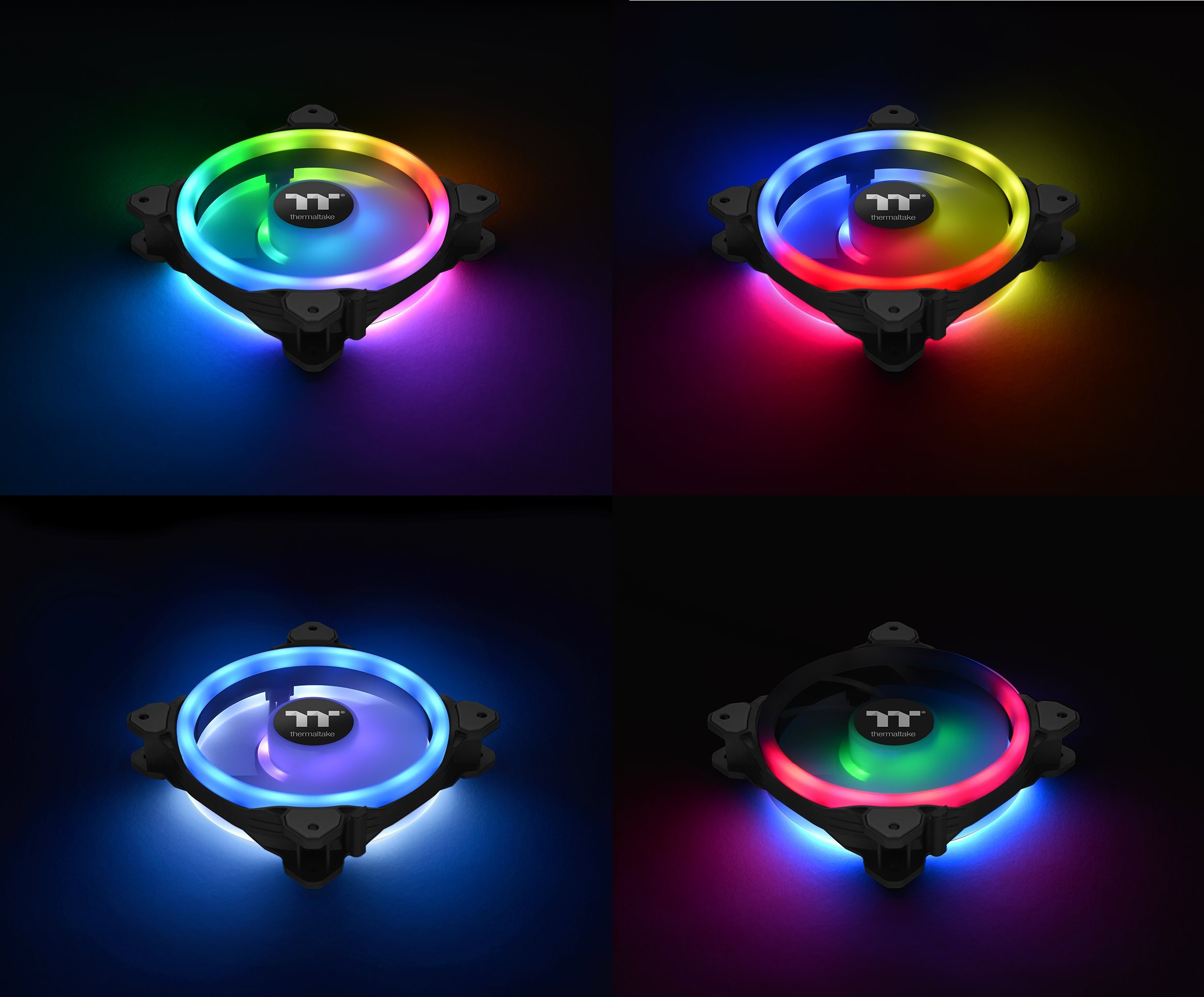 Thermaltake Riing Trio 12 RGB TT Premium Edition 120mm Software Enabled 30 Addressable LED 9 Blades Case/Radiator Fan - 3 Pack - CL-F072-PL12SW-A by Thermaltake (Image #2)