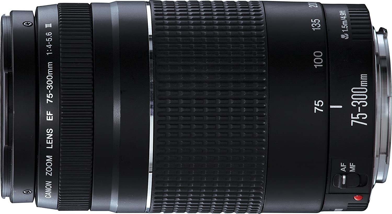 Canon 75-300 mm f/4-5.6 III - Objetivo para Canon (Zoom óptico 4X ...