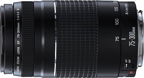 46ee30e5e35f8 Canon 75-300 mm f 4-5.6 III - Objetivo para Canon (Zoom óptico 4X ...