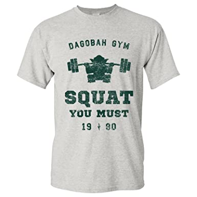 aa69d46c9 UGP Campus Apparel Squat You Must - Workout Gym Jedi Space Galaxy T Shirt -  Small