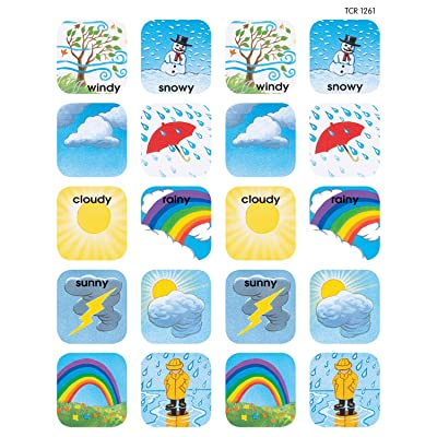 Teacher Created Resources Weather Stickers, Multi Color (1261): Office Products