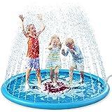 "Jasonwell Splash Pad Sprinkler for Kids 68"" Splash Play Mat Outdoor Water Toys Inflatable Splash Pad Baby Toddler Pool…"