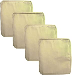 Patio Chair Cushion Cover 22X20X4'' Outdoor Indoor Seat Cushion Cover Waterproof 600D Oxford Fabric Heavy Duty Washable Chair Seat Replacement Cover for Outdoor Furniture Cushions (Beige, 4Pcs)