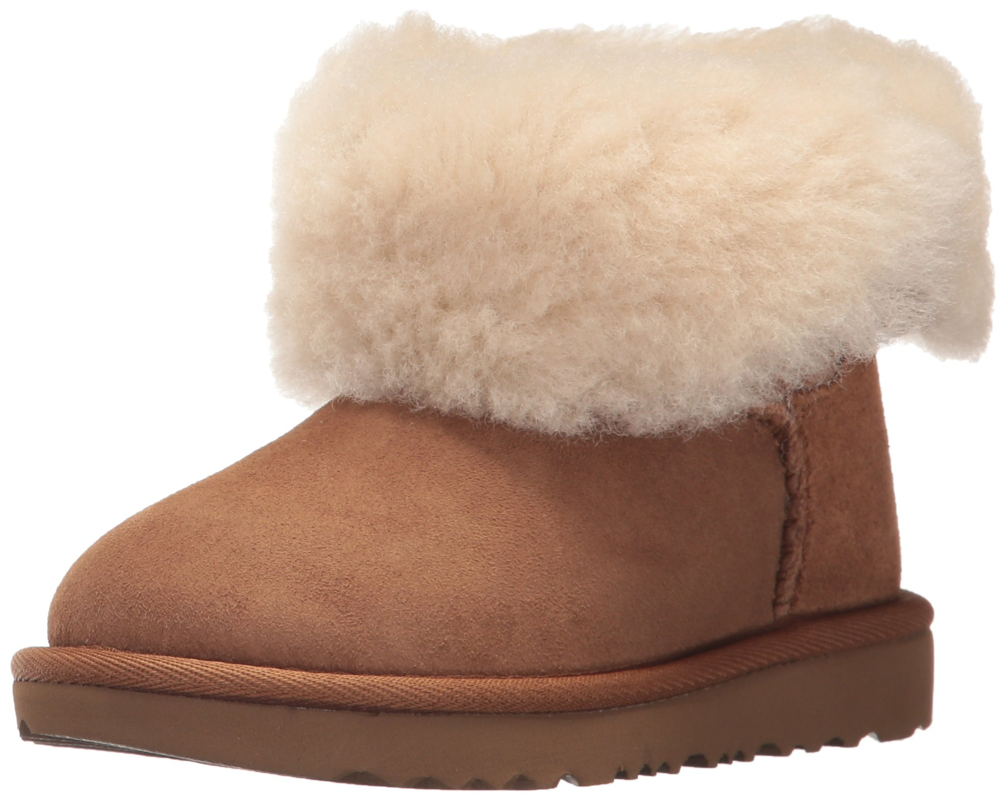 UGG Girls T Bailey Button II Fashion Boot, Chestnut, 6 M US Toddler