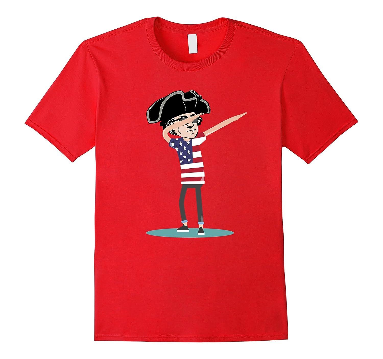 Cool Funny Dab George Washington Shirt | American Dabbing-Art
