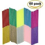 10 Color 60pcs Hot Glue Gun Sticks Glitter 7mm by 10 cm Hot Melt Glue Sticks Mini for DIY Art Craft