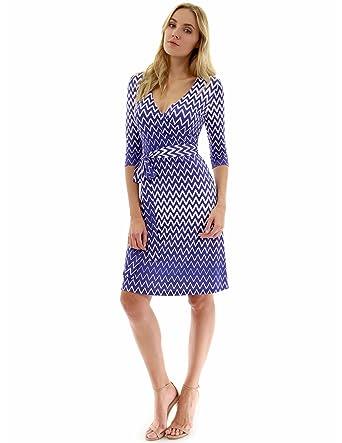 7a9c1bb687a7 PattyBoutik Women Faux Wrap A Line Dress at Amazon Women s Clothing ...
