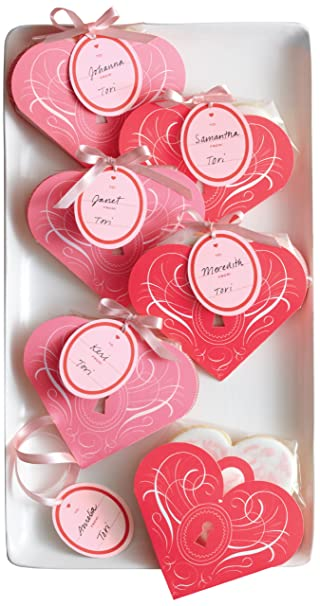 Amazon.com: Martha Stewart Crafts Valentines Day Heart Shape Treat ...