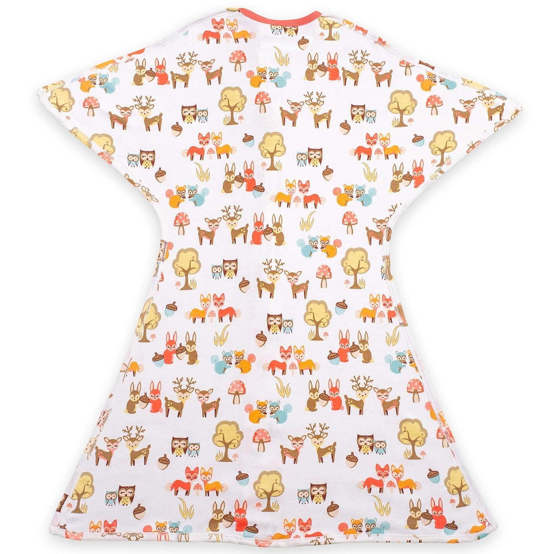 Cozy Baby Swaddle Wrap and Baby Sleep Sack Woodlands Zipadee-Zip Swaddle Transition Baby Swaddle Blanket with Zipper