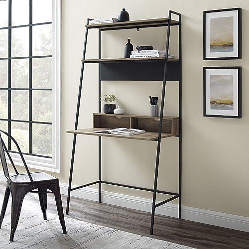 Walker Edison Freya Urban Industrial Ladder Desk
