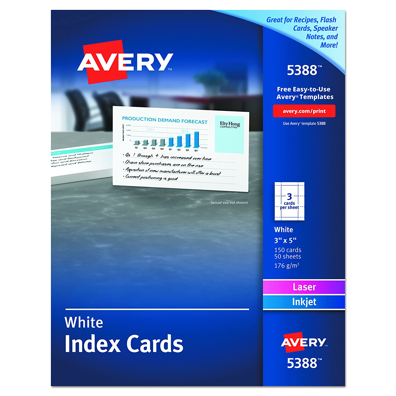 printing index cards