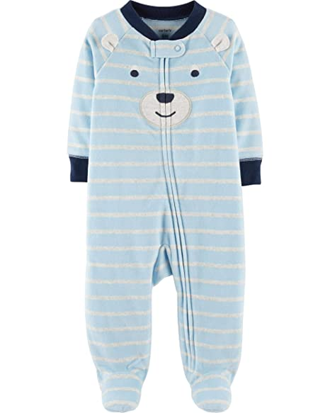 a7d1d0bee Amazon.com  Carter s Baby Boy Bear Zip-Up Fleece Sleep   Play ...