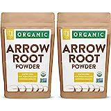Organic Arrowroot Powder (Flour)   2x 1 Pound Resealable Kraft Bags (32oz / 2 lbs Total)   100% Raw From Thailand   by FGO