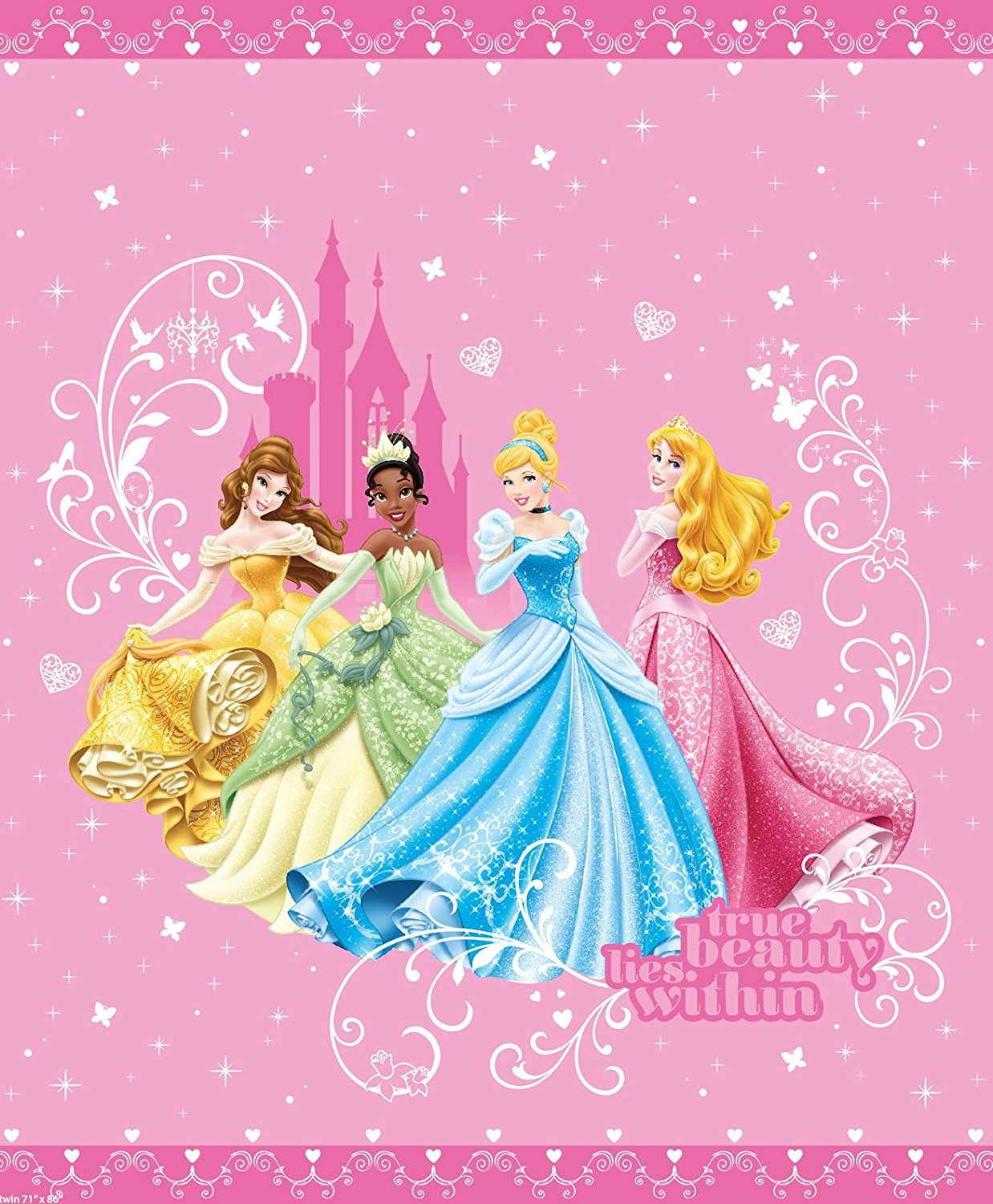 Amazon.com: Disney Princess Quilt in Full / Queen Size: Home & Kitchen : disney princess quilt - Adamdwight.com