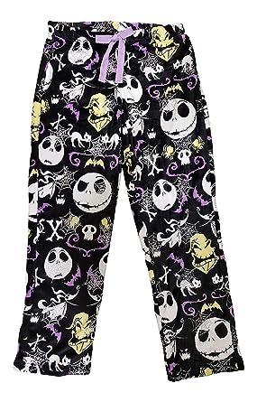 dd80382731 Disney Womens Jack Skellington Nightmare Before Christmas Super Minky  Fleece Pajama Pants (Medium 8-