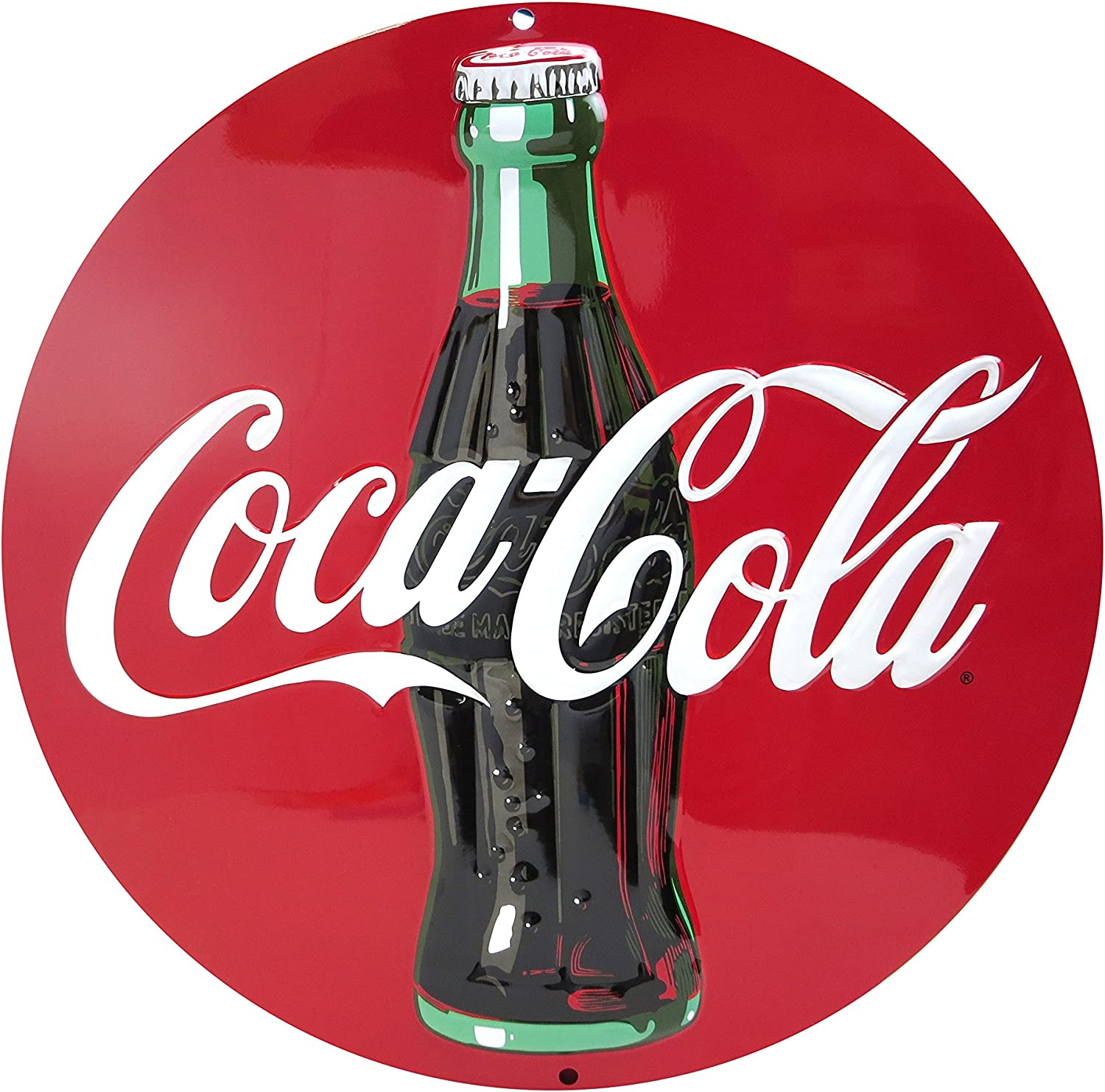 NEW Embossed Tin Coca-Cola  3-D Thank You Beauty Sign