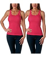 Sofra Women's Tank Top Cotton Ribbed