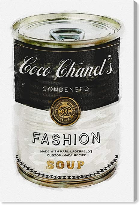 Amazon Com The Oliver Gal Artist Co Glam Wall Art Canvas Prints Fashion Soup Home Décor 10 X 15 Black Gold Home Kitchen
