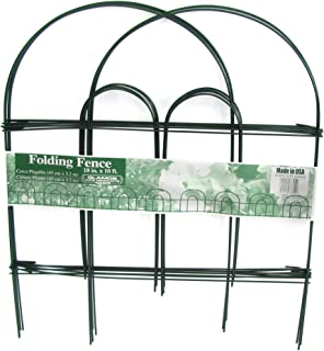 product image for Glamos 778009 Folding Metal Wire Garden Fence, 18-Inch by 10-Foot, Pack of 12 , Green