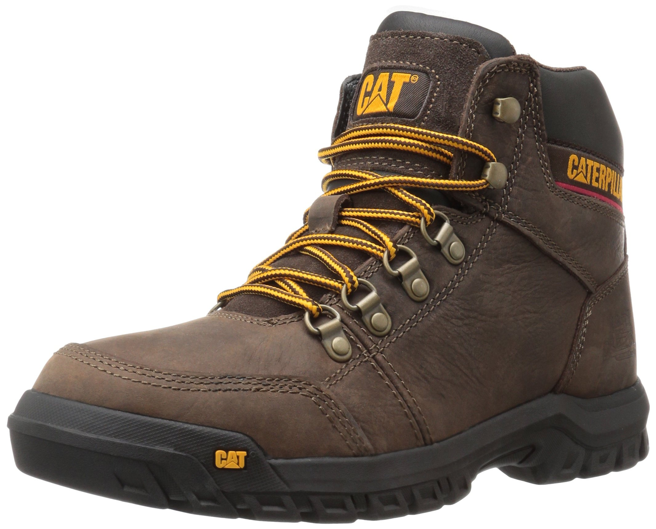 Caterpillar Men's Outline Work Boot, Seal Brown, 7.5 M US by Caterpillar