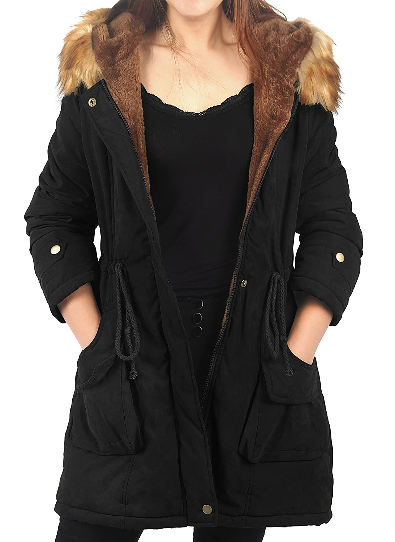 iLoveSIA Women's Military Rain Trench Coat Waterproof Lightweight Jacket Hood S51516258