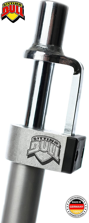Sitting Bull Unisex/ Erwachsene Silver Tomahawk 27,2mm Schwarz 27.2
