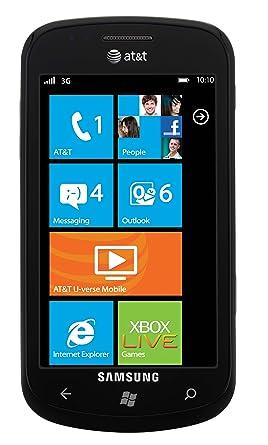 Amazon Com Samsung Focus Gsm Windows Phone Smartphone