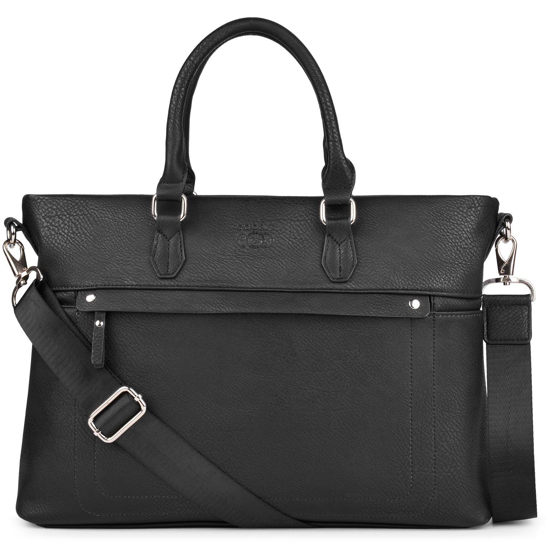 Laptop Briefcases for Men, COOFIT PU Leather Briefcases 14'' Laptop Bag Messenger Shoulder Bag