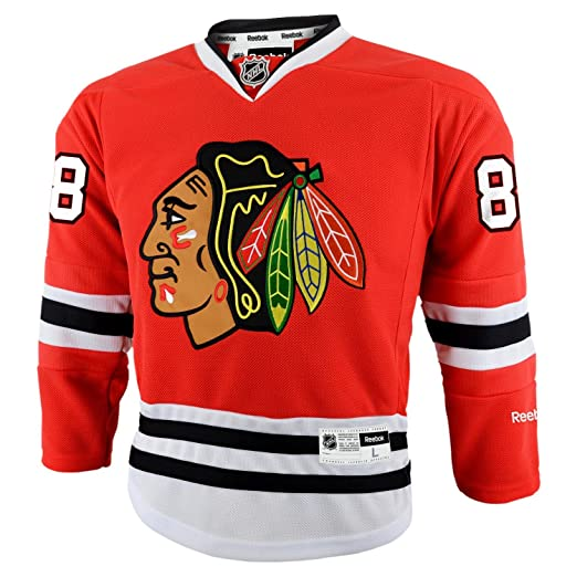 225f13b7 Reebok Chicago Blackhawks Patrick Kane Youth Premier Home Jersey -  BLACKHAWKS TEAM COLOR Large/X