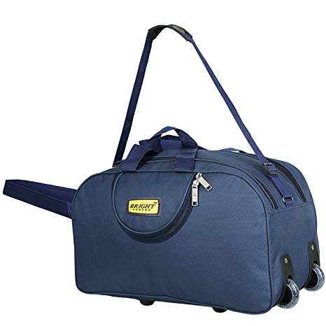 alfisha Lightweight Waterproof Luggage Travel Duffel Bag with Roller Wheels  (Navy Blue)  Amazon.in  Bags, Wallets   Luggage ca379bc3b9