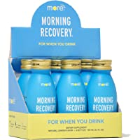 6-Pack Morning Recovery Hangover Prevention Drink 3.4-Oz. (Lemon)