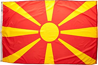product image for Annin Flagmakers Model 195176 Macedonia Flag Nylon SolarGuard NYL-Glo, 4x6 ft, 100% Made in USA to Official United Nations Design Specifications