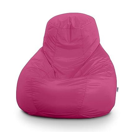 Avalon Pouf Poltrona Sacco Gigante BAG XXL Jive 100x100x110cm Made in Italy  in tessuto antistrappo imbottito colore Rosa