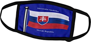 3dRose 777images Flags and Maps - The Flag of Slovakia on a Blue Background with Slovak Republic in English and Slovak - Face Masks (fm_63203_1)