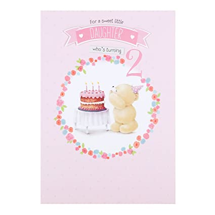 Amazon Hallmark Forever Friends 2nd Birthday Card Sweet