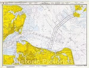Amazon.com: Historic Pictoric Vintage Map - Norfolk Harbor