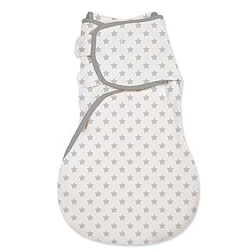 SwaddleMe Baby Pucksack Schlafsack Baumwolle Gr.S  grau