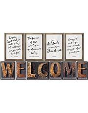 Schoolgirl Style Industrial Chic Bulletin Board Set, Welcome (110401)
