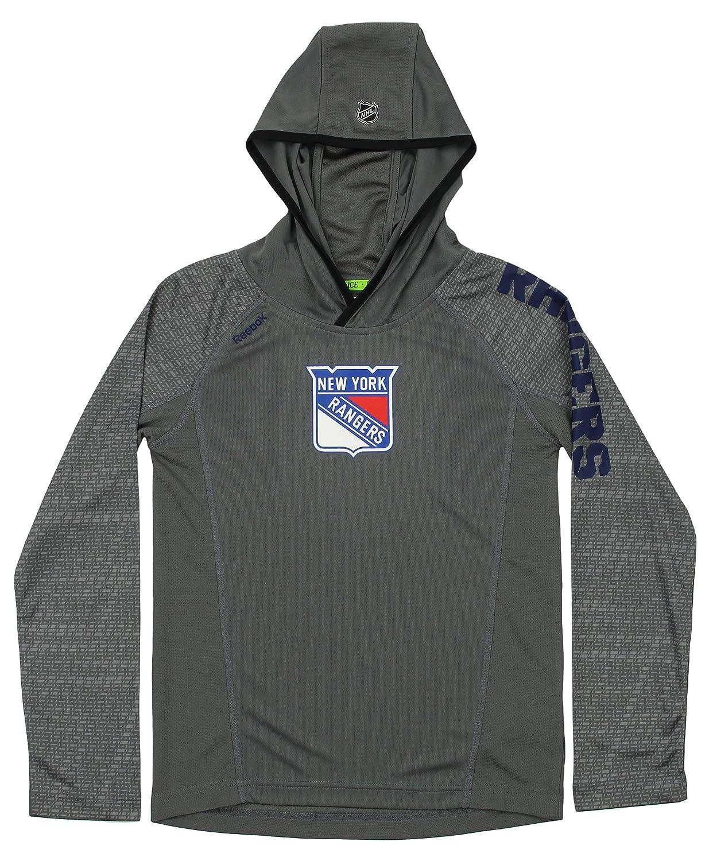 リーボック 長袖 NHL ユース B07F4946YW ニューヨーク レンジャーズ 長袖 フード付き (8) トレーニング Tシャツ Small (8) グレー B07F4946YW, 将棋の里天童駒そば:98d0c6e9 --- dakuwebsite.xyz