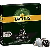 Jacobs Kapseln Espresso Ristretto - Intensität 12 - 200 Nespresso (R)* kompatible Kaffeekapseln aus Aluminium (10 x 20 Kapseln)